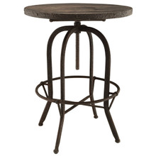 Gather Five PCS Dining Set, Brown, Metal 9641