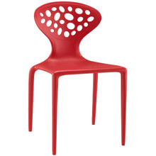 Animate Dining Chair, Red, Plastic 9645