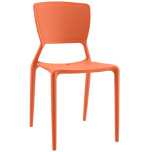 Fine Dining Side Chair, Orange, Plastic 9652