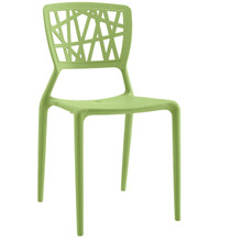 Astro Dining Side Chair, Green, Plastic 9655