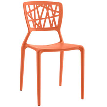 Astro Dining Side Chair, Orange, Plastic 9656