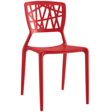 Astro Dining Side Chair, Red, Plastic 9657