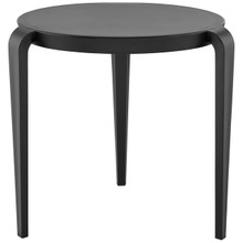Spin Side Table, Black, Plastic 9662