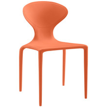 Draw Dining Side Chair, Orange, Plastic 9666