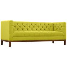 Panache Upholstered Fabric Sofa, Green, Fabric 9671