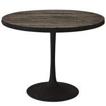 Drive Wood Top Dining Table in Brown Set
