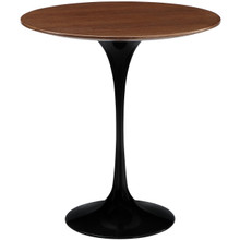 Lippa Wood Top Side Table in Black