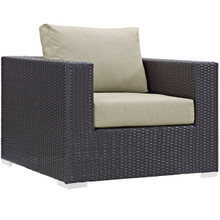 Convene Outdoor Patio Armchair, Beige, Rattan 9869