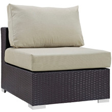 Convene Outdoor Patio Armless, Beige, Rattan 9885
