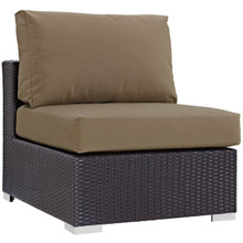 Convene Outdoor Patio Armless, Brown, Rattan 9886