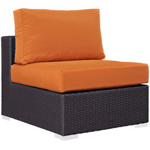 Convene Outdoor Patio Armless, Orange, Rattan 9887