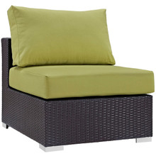 Convene Outdoor Patio Armless, Green, Rattan 9888