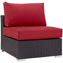 Convene Outdoor Patio Armless, Red, Rattan 9889