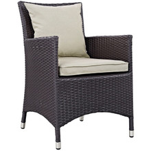 Convene Dining Outdoor Patio Armchair, Beige, Rattan 9899