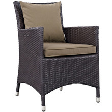 Convene Dining Outdoor Patio Armchair, Brown, Rattan 9900
