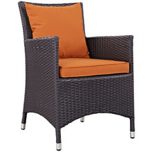 Convene Dining Outdoor Patio Armchair, Orange, Rattan 9901