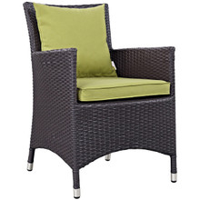 Convene Dining Outdoor Patio Armchair, Green, Rattan 9902