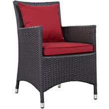 Convene Dining Outdoor Patio Armchair, Red, Rattan 9903