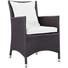 Convene Dining Outdoor Patio Armchair, White, Rattan 9905