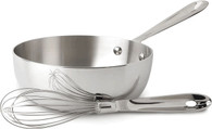 ALL-CLAD Stainless 2-Qt Saucier with whisk, no lid
