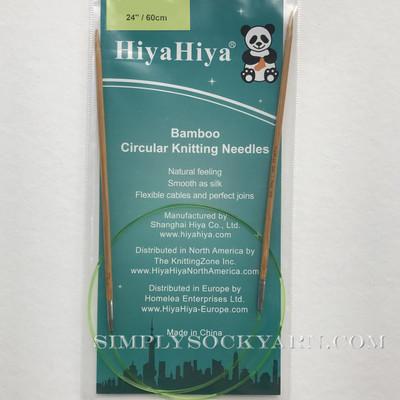 "Hiya 24"" Circ Bamboo US 4 -"