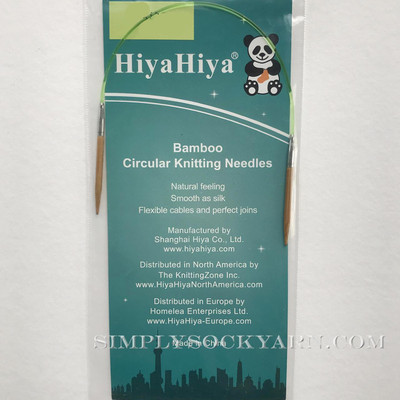 "Hiya 9"" Circ Bamboo US 4 -"