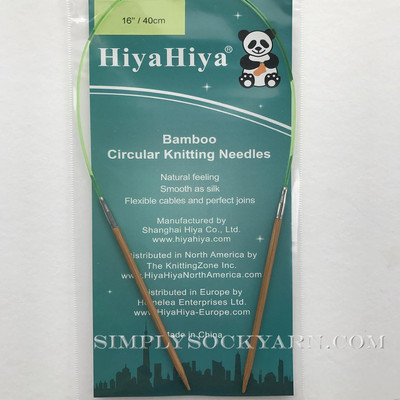 "Hiya 16"" Circ Bamboo US 9 -"