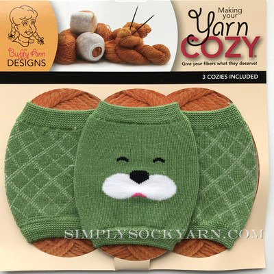 Yarn Cozy Green Bear Argyle Mix -
