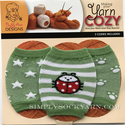 Yarn Cozy Green Lbug Stars Paws -
