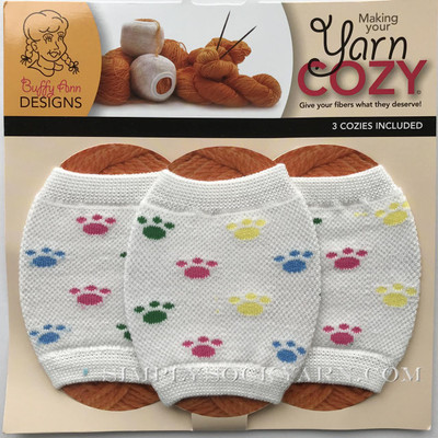 Yarn Cozy White Pawprints -