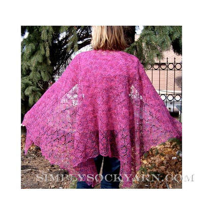 DIC Oak Leaf Shawl Pattern