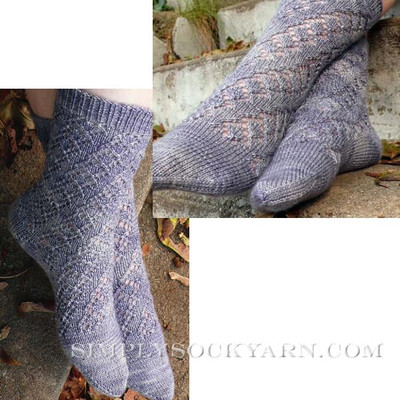 Knitspot Winding Diamonds Sock