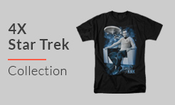 4X Star Trek T-Shirts