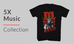 5X Music T-Shirts