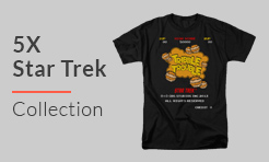 5X Star Trek T-Shirts