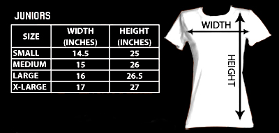 Sizing chart for Final Fight Girls T-Shirt - Arcade