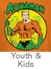 Thumbnail for the Aquaman Youth and Kids T-Shirt category
