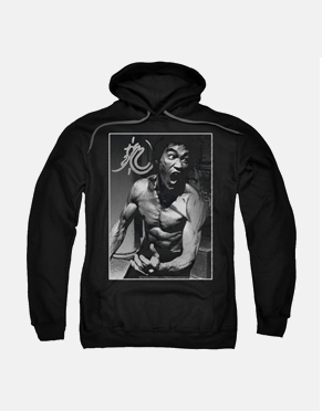 Bruce Lee Hoodie - Focused Rage