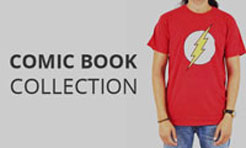 Comic book t-shirts collection