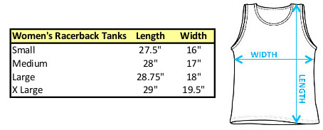 Sizing Chart for the Star Wars K2SO Enforcer Droid Girls Tank Top