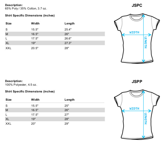 Sizing Chart for Office Space Girls T-Shirt - Chotchkies Costume