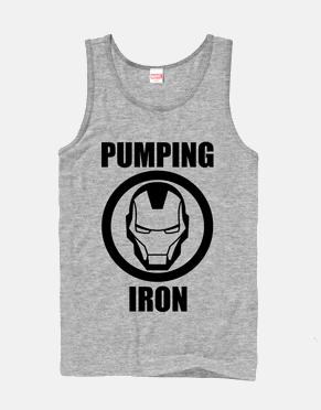 Iron Man Pumping Iron Tank Top