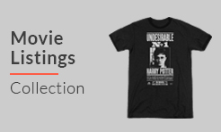 Movie Listings t-shirts