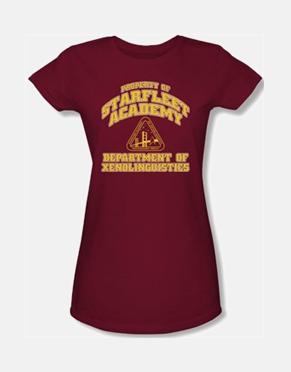 Star Trek Girls T-Shirt - Starfleet Academy Xenolinguistics
