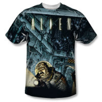 Alien Cartoon Lurking Sublimated T-Shirt