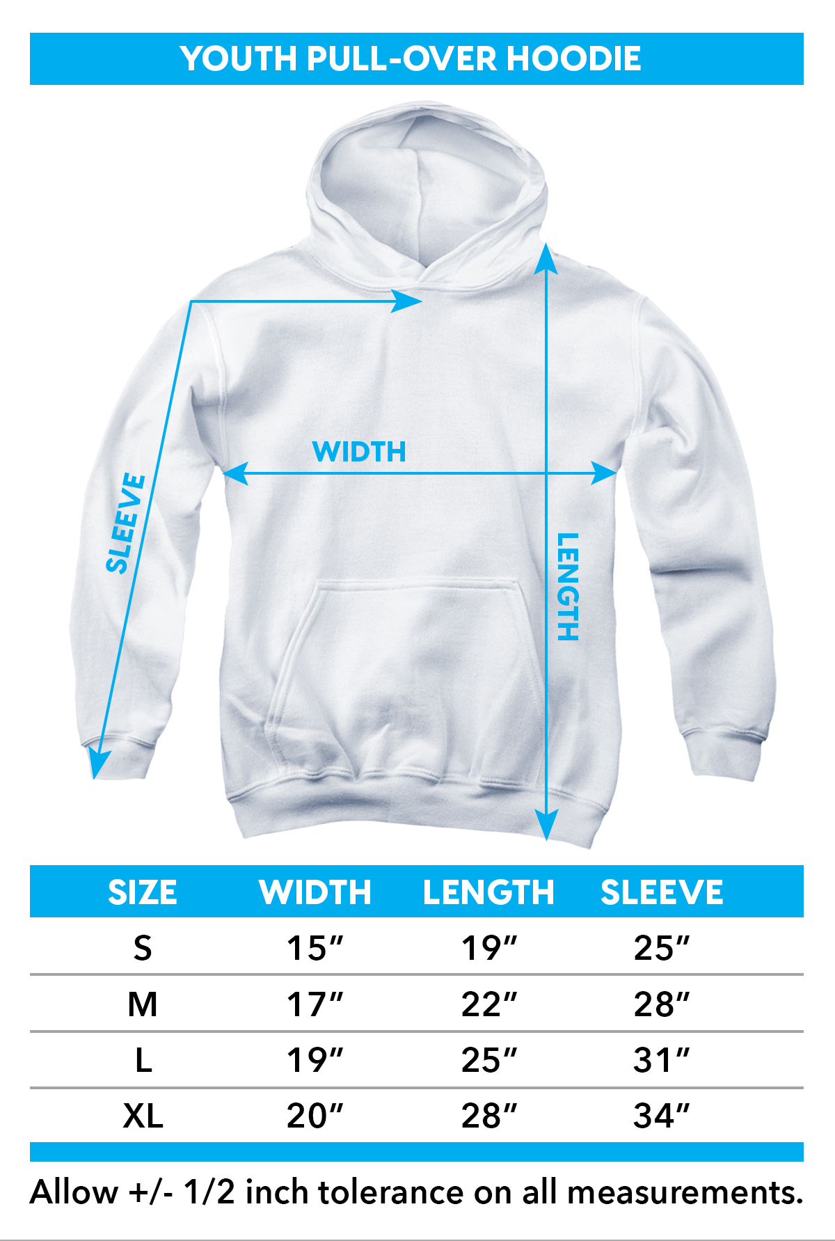 Jaws Youth Hoodie - Terror in the Deep TRV-UNI352-YFTH