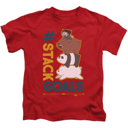 Image for We Bare Bears Kids T-Shirt - Stack Goals