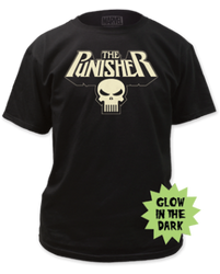 Image for Punisher T-Shirt - Glowing Logo