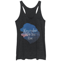 Image for The Lion King Womens Tank Top - Inspirational Silhouette