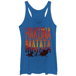 Image for The Lion King Womens Tank Top - Sunset Matata